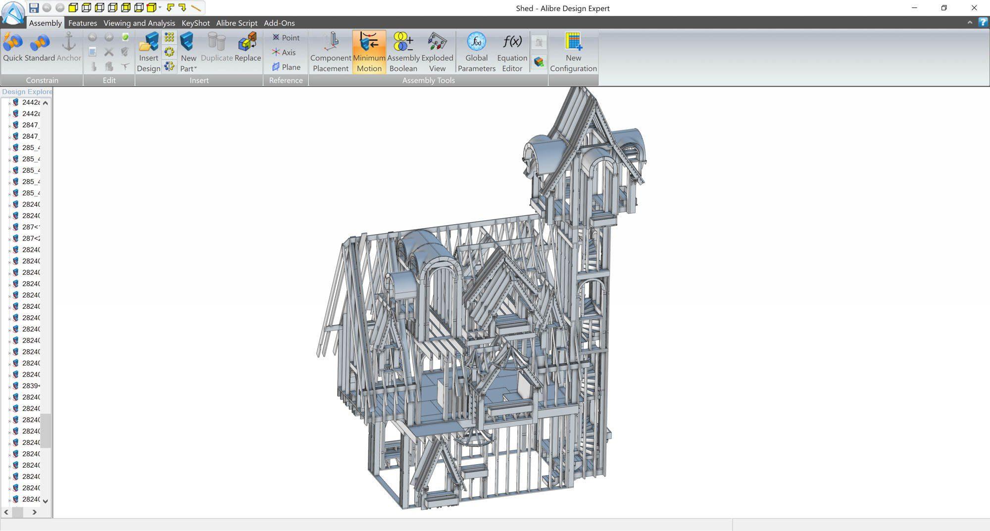 alibre-design-zrzut-ekranu-architektura-szkielet-domu-2