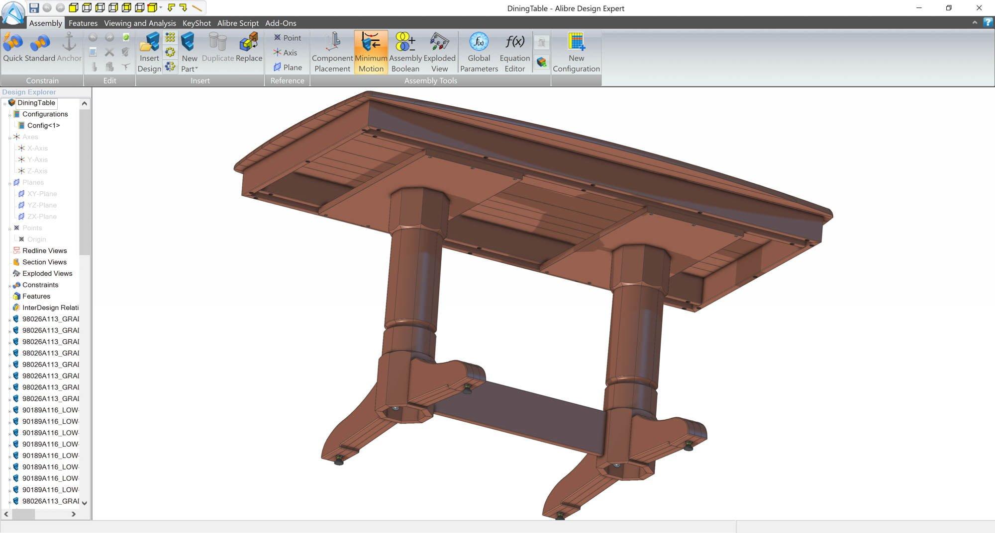 alibre-design-zrzut-ekranu-branza-stolarska-drewniany-stol