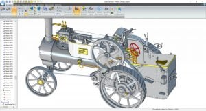 alibre-design-zrzut-ekranu-historyczne-maszyny-maly-ciagnik-1