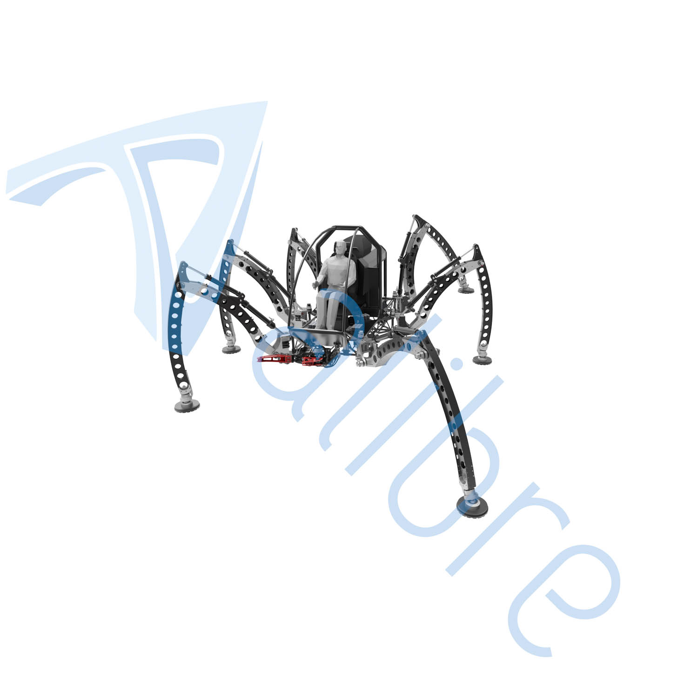 alibre design keyshot render fotorealistyczny rendering Hexapod