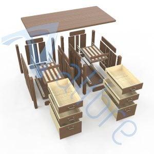 alibre design keyshot render fotorealistyczny rendering biurko widok rozstrzelony
