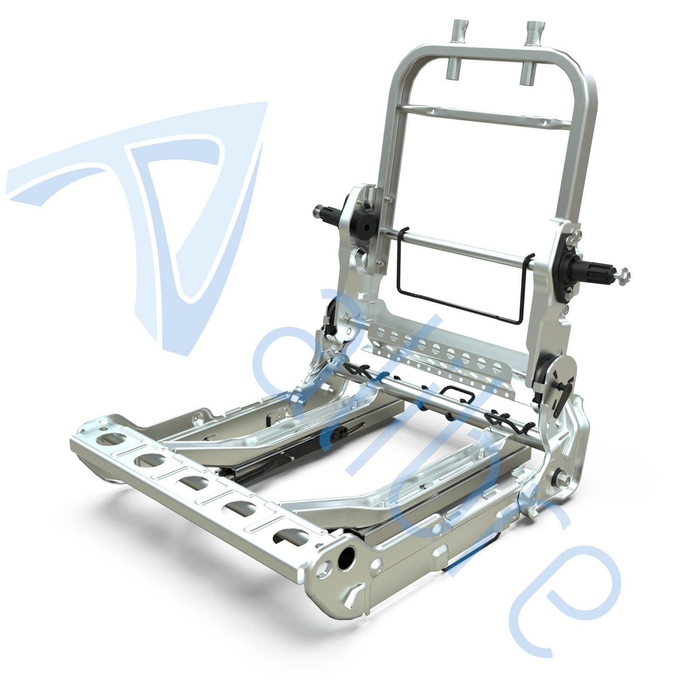 alibre design keyshot render fotorealistyczny rendering konstrukcja fotela samochodowego