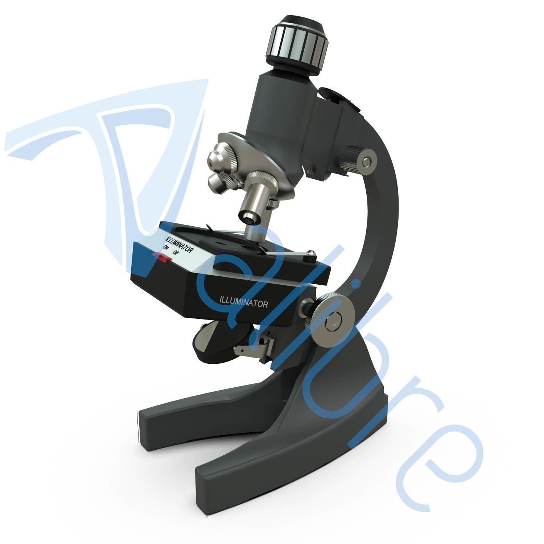 alibre design keyshot render fotorealistyczny rendering mikroskop