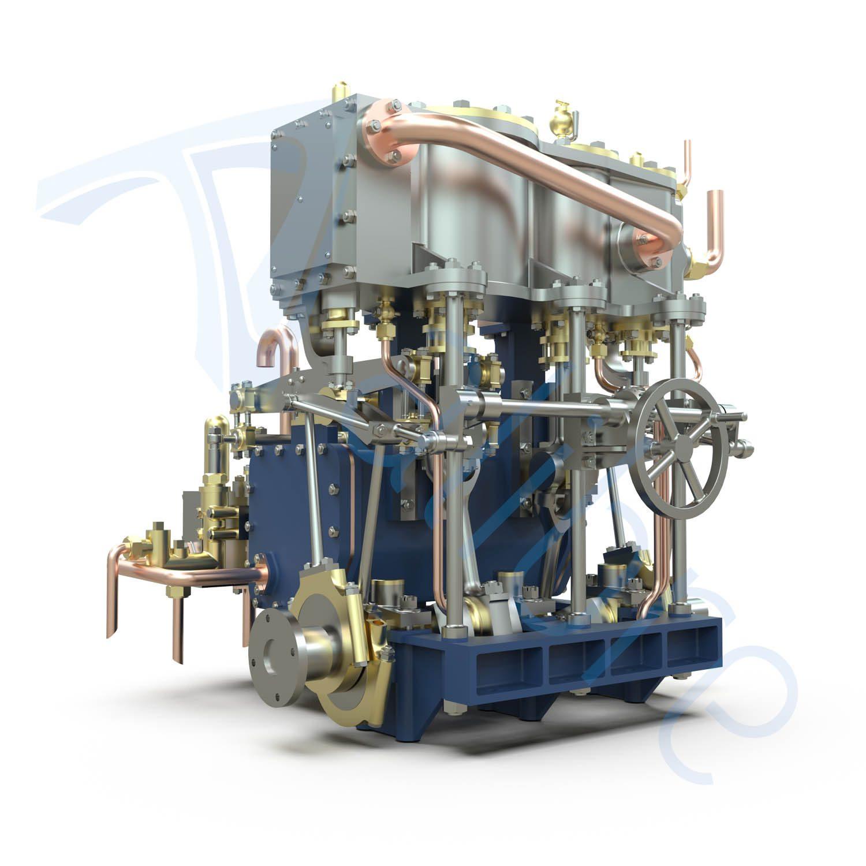 alibre design keyshot render fotorealistyczny rendering silnik dwucylindrowy