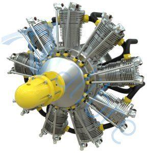 alibre design keyshot render fotorealistyczny rendering silnik lotniczy gwiazdowy