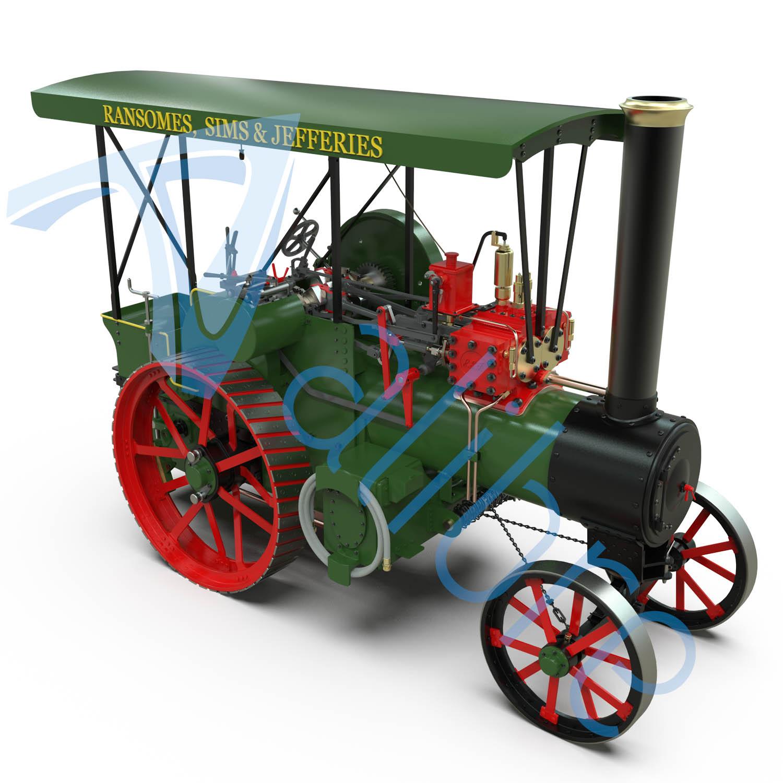 alibre design keyshot render fotorealistyczny rendering traktor zdachem