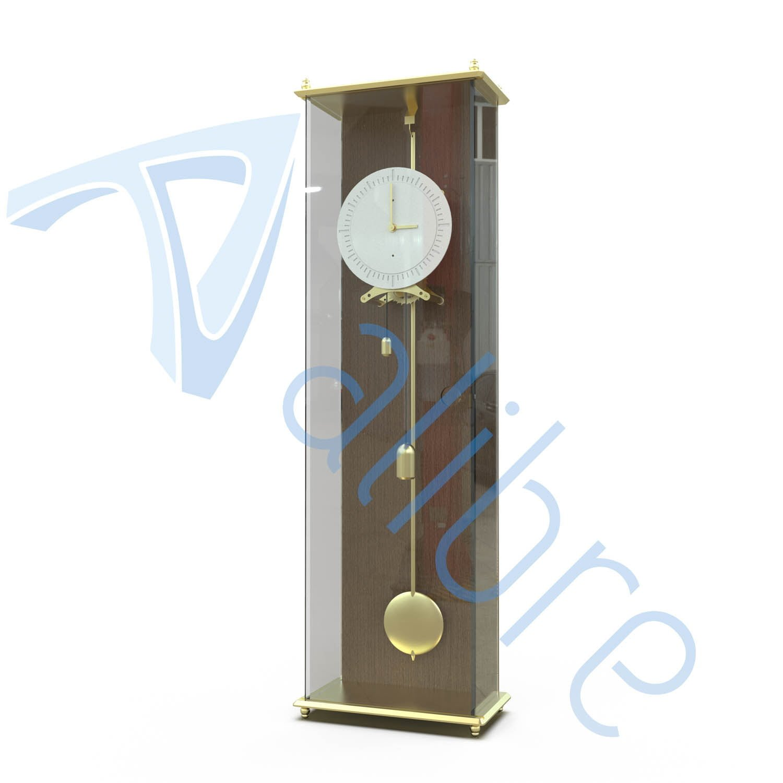 alibre design keyshot render fotorealistyczny rendering zegar stojacy