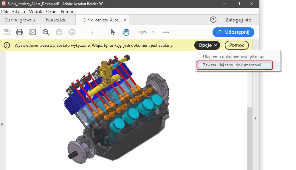 PDF3D Alibre Design zawsze ufaj temu dokumentowi