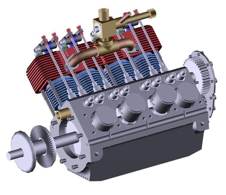 Silnik lotniczy Alibre Design