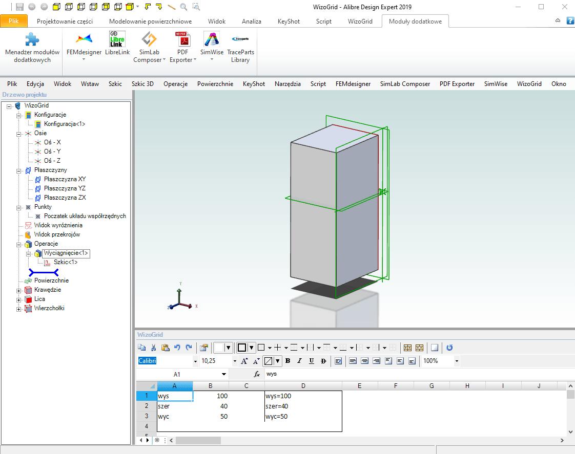 WizoGrid Alibre Design