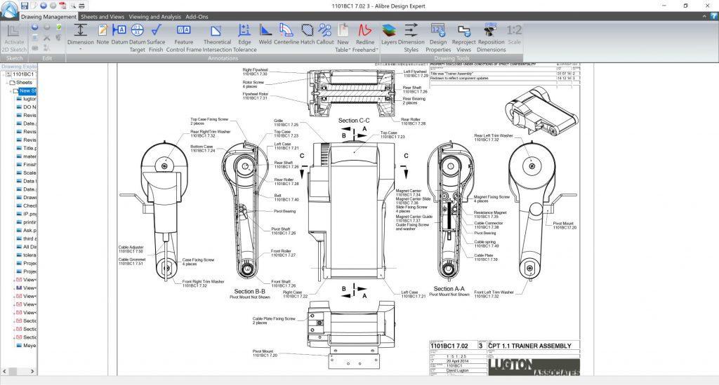Dokumentacja techniczna Alibre Design